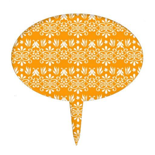 Diseño real en el naranja figura de tarta