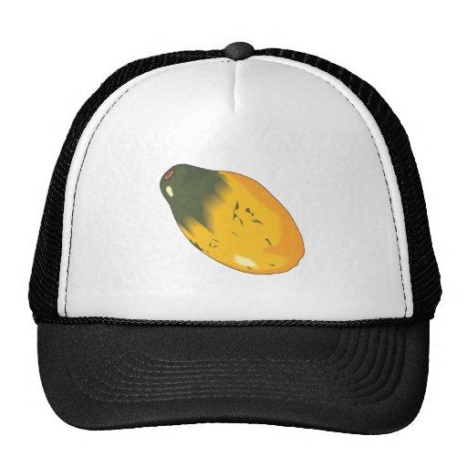 diseño realista de la fruta de la papaya gorras