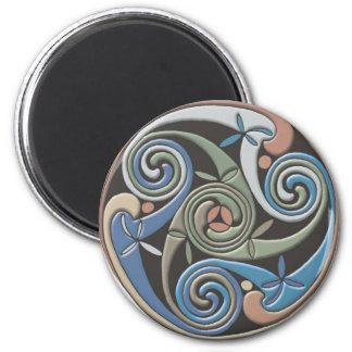 Diseño redondo céltico - imán