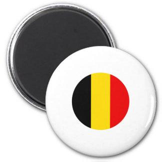 Diseño redondo de la bandera de Bélgica Imán Redondo 5 Cm