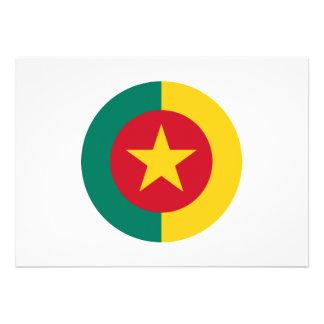 Diseño redondo de la bandera del Camerún Anuncios