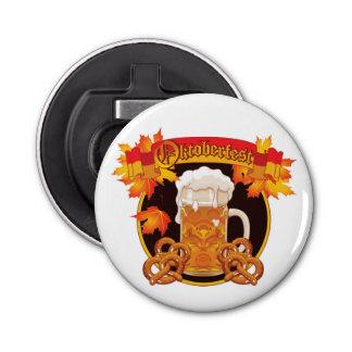 Diseño redondo de la celebración de Oktoberfest Abrebotellas Redondo