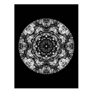 Diseño redondo de lujo en negro postal