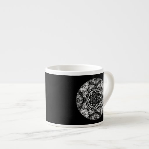 Diseño redondo de lujo en negro taza espresso