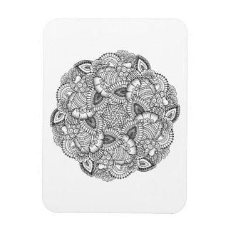 Diseño redondo del Doodle Rectangle Magnet