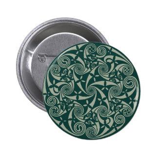 Diseño redondo del medallón céltico del nudo, pin redondo de 2 pulgadas