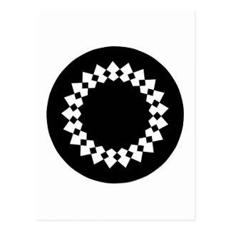 Diseño redondo elegante negro. Estilo del art déco Postales