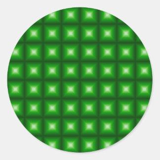 Diseño reflexivo tejado del modelo de la teja pegatinas redondas