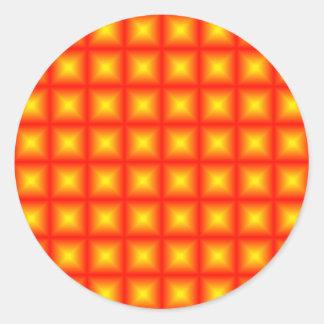 Diseño reflexivo tejado del modelo de la teja etiquetas redondas