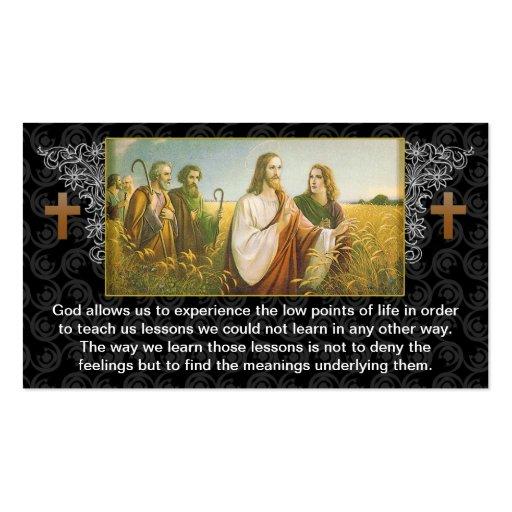 Diseño religioso de la tarjeta de visita de dios d