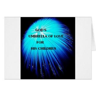 diseño religioso del paraguas abstracto tarjeta de felicitación