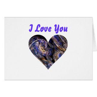 Diseño remolinado multicolor del corazón del arte  tarjeta de felicitación