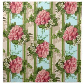 Diseño repetido flor servilletas