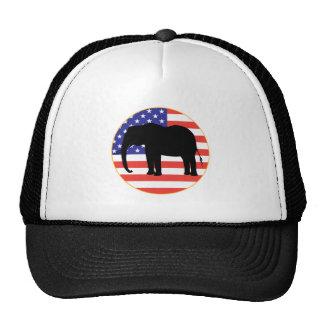 diseño republicano del elefante del símbolo gorras