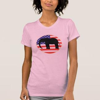 diseño republicano del elefante del símbolo t shirt