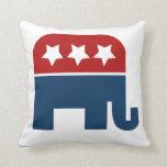 Diseño republicano del logotipo del elefante del G Cojines