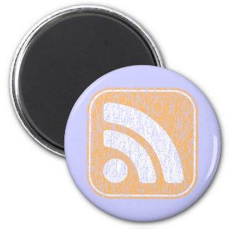 Diseño resistido botón del icono del RSS Imán Redondo 5 Cm