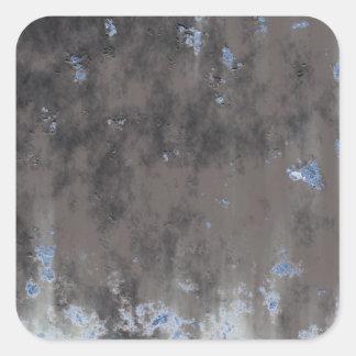 Diseño resistido de la piedra o del metal pegatina cuadrada