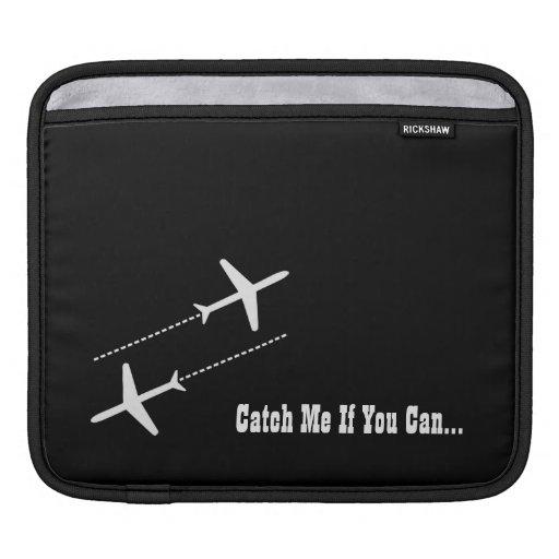 Diseño retro adaptable blanco y negro de los avion fundas para iPads