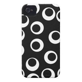 Diseño retro blanco y negro de moda iPhone 4 Case-Mate protectores