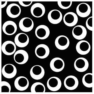 Diseño retro blanco y negro de moda imán fotoescultura