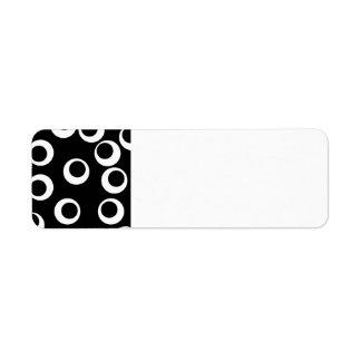 Diseño retro blanco y negro de moda. Personalizado Etiquetas De Remite