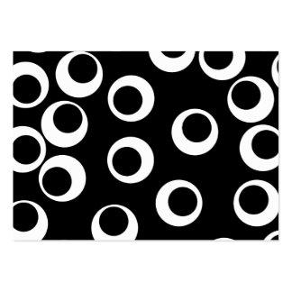 Diseño retro blanco y negro de moda tarjetas de visita grandes