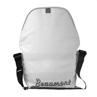 Diseño retro clásico de Beaumont Tejas Bolsa Messenger
