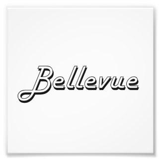 Diseño retro clásico de Bellevue Washington Cojinete