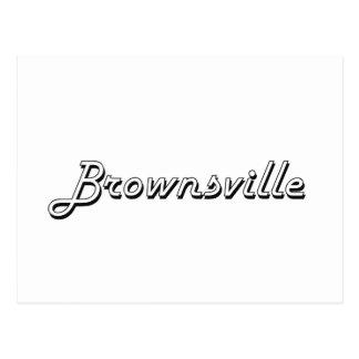 Diseño retro clásico de Brownsville Tejas Tarjetas Postales