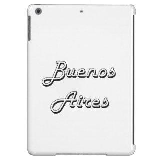 Diseño retro clásico de Buenos Aires la Argentina Funda Para iPad Air