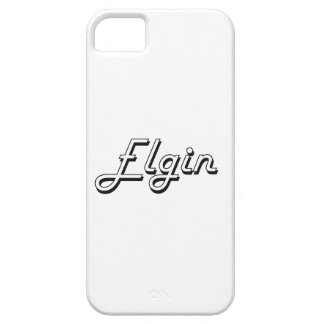 Diseño retro clásico de Elgin Illinois iPhone 5 Fundas