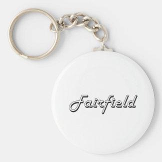 Diseño retro clásico de Fairfield California Llavero Redondo Tipo Pin