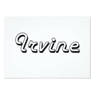 """Diseño retro clásico de Irvine California Invitación 5"""" X 7"""""""
