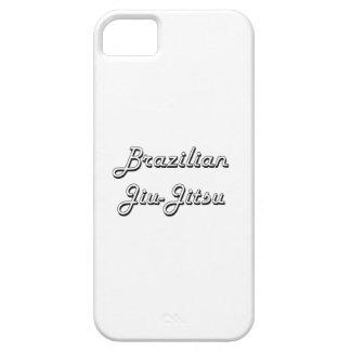 Diseño retro clásico de Jiu-Jitsu del brasilen@o iPhone 5 Carcasa