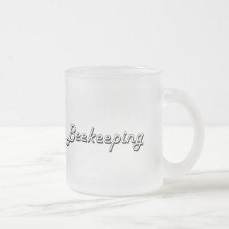 Diseño retro clásico de la apicultura taza de cristal