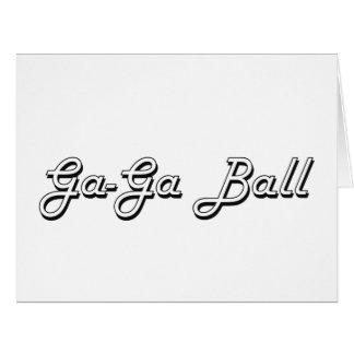 Diseño retro clásico de la bola GA-GA Tarjeta De Felicitación Grande