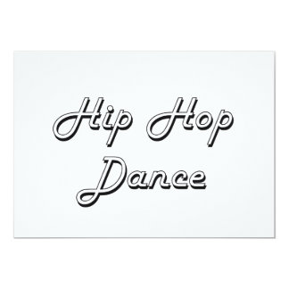 """Diseño retro clásico de la danza de Hip Hop Invitación 5"""" X 7"""""""
