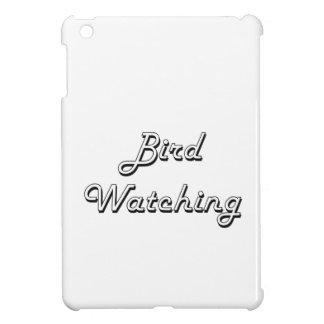 Diseño retro clásico de la observación de pájaros