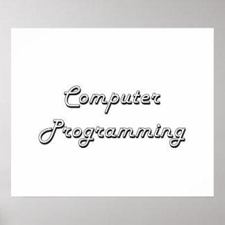 Diseño retro clásico de la programación póster