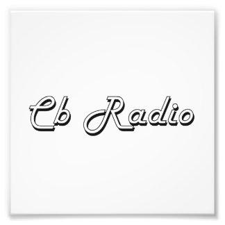 Diseño retro clásico de la radio CB Cojinete
