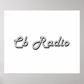 Diseño retro clásico de la radio CB Póster