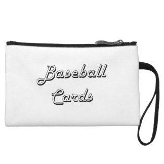 Diseño retro clásico de las tarjetas de béisbol