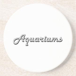 Diseño retro clásico de los acuarios posavasos de arenisca