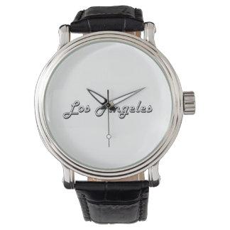 Diseño retro clásico de Los Ángeles Estados Unidos Reloj