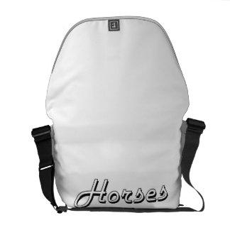 Diseño retro clásico de los caballos bolsas de mensajería