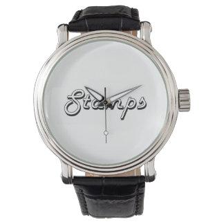 Diseño retro clásico de los sellos relojes de pulsera