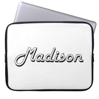 Diseño retro clásico de Madison Wisconsin Manga Computadora