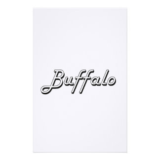 Diseño retro clásico de Nueva York del búfalo Personalized Stationery