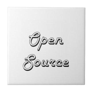 Diseño retro clásico de Open Source Azulejo Cuadrado Pequeño